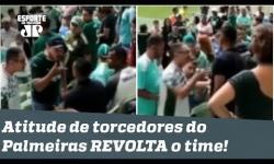 Atitude de torcedores do Palmeiras no jogo contra o Flamengo REVOLTA o próprio clube!