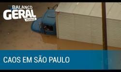 Chuva causa 796 pontos de alagamentos em São Paulo