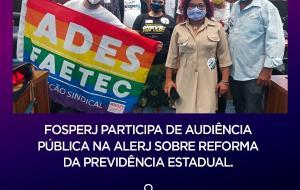 FOSPERJ organiza o Dia Estadual de Luta contra as reformas na próxima terça-feira