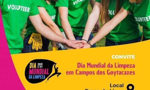 Campos participa do Dia Mundial da Limpeza