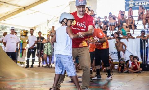 Sandro Mineirinho vai estar sábado (25) na Escolinha de Skate em Goitacazes