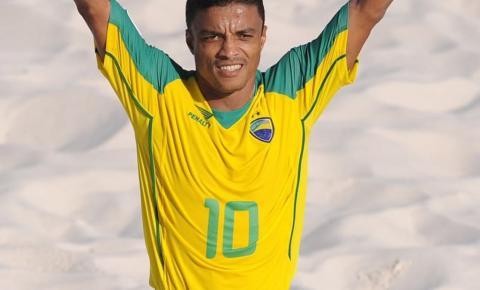 Ex-jogadores da Seleção de Beach Soccer, Neném e Benjamim vão a Farol