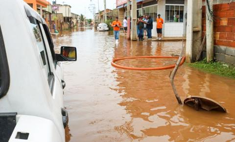 Grupo de Emergência em alagamentos atua em vários pontos de Campos