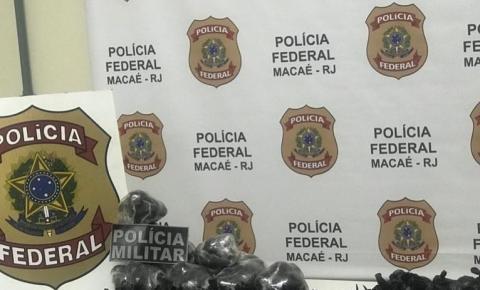 Polícia Civil e Militar apreendem 7,4 quilos de cocaína em Macaé