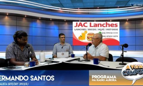 """Bacia do Rio Paraíba é tema no quadro """"Conversando com o povo"""" no programa """"A Voz de Campos"""" desta terça (4)"""