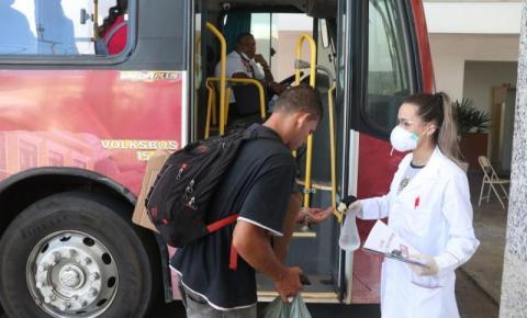 Higienização em ônibus das linhas municipais de SJB