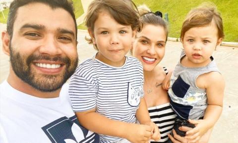 Gusttavo Lima e Andressa tiram visto de filhos para turnê nos EUA