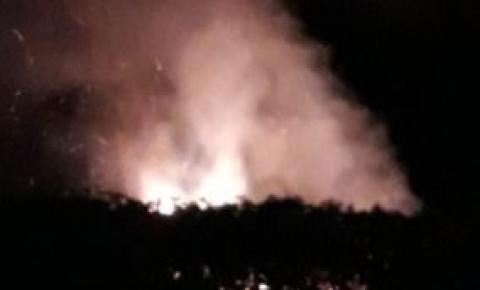 Operação conjunta para controlar queimada em São Francisco de Itabapoana