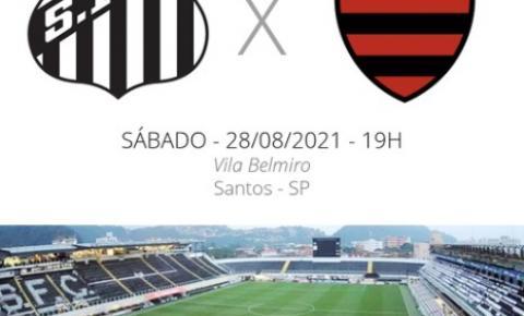 Santos x Flamengo: veja onde assistir, escalações, desfalques e arbitragem