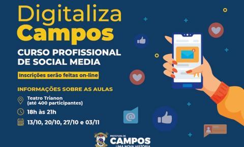 Prefeitura anuncia 400 vagas para curso gratuito de mídias digitais