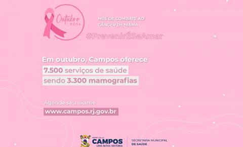 Campanha Outubro Rosa: Saúde divulga agendamento online para exames de mamografia em Campos