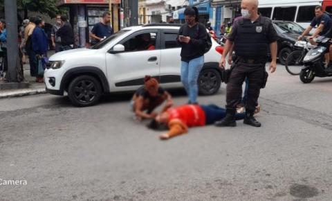 Campos: Mulher é atropelada na tarde desta segunda