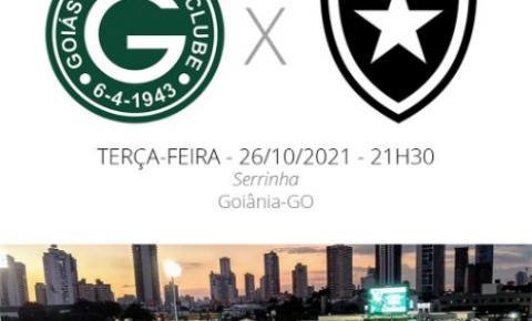 Goiás x Botafogo: saiba todos detalhes do jogo desta terça