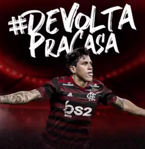 Flamengo anuncia a contratação do atacante Pedro